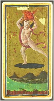 El Sol. Tarot de Visconti Sforza