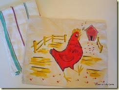 singing chicken towel