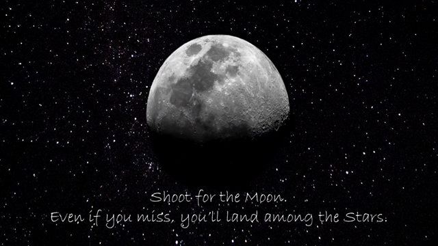 Shoot for the moon ...
