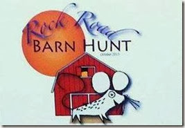 Barn hunt rock road trial logo