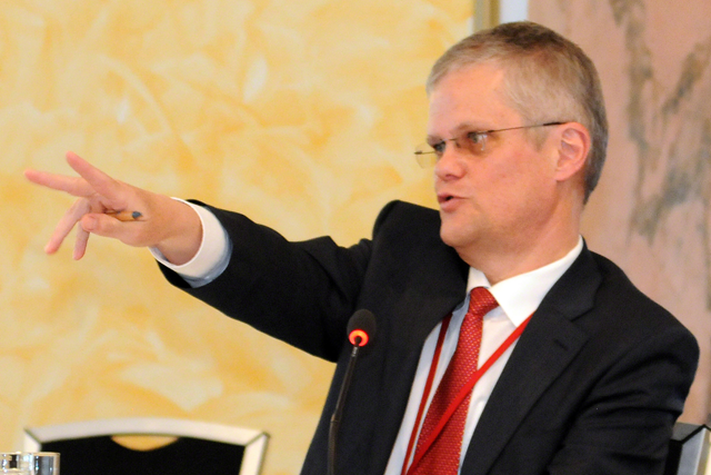 Halldór Thorgeirsson, UNFCCC Secretariat, has said, 'Vested interests are paying for the discrediting of scientists all the time. We need to be ready for that.' He has urged people to see the IPCC reports as a call for action and stressed that building a low carbon policy framework requires actions at the national and international levels with the involvement of the private sector. Photo: IISD