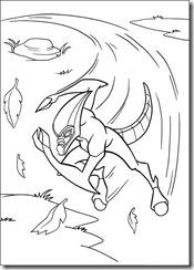 desenhos para colorir do Ben 10 xlr8
