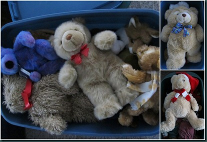 teddy bear collage