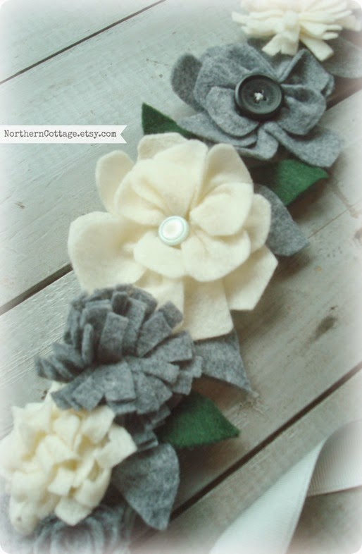 Handmade Felt Flower Crown Art {NorthernCottage}