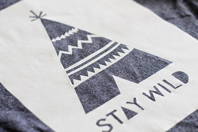 Stay Wild Free Stencil