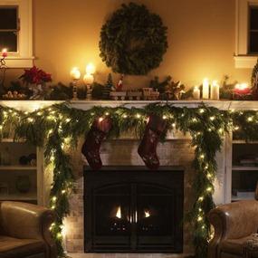 decoración navideña en verde