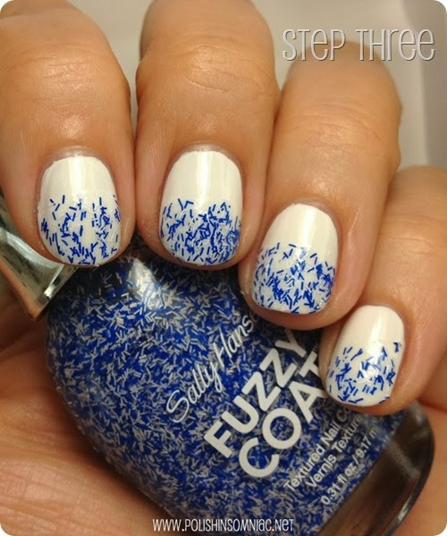 Step Three of Four Easy Steps to a Water Inspired Manicure