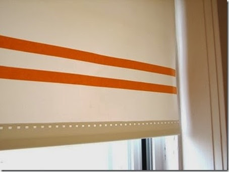 how about orange maksing tape trim on roller shade