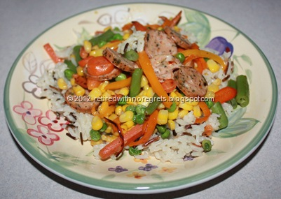 Veggie Sausage Stir-Fry  Served