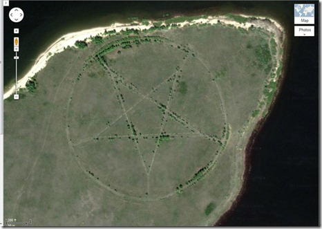 pentagramA EN GOOGLE EARTH