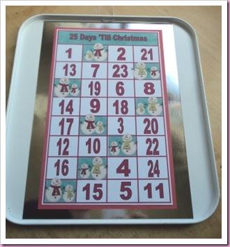 Baking Tray Advent Calendar 1