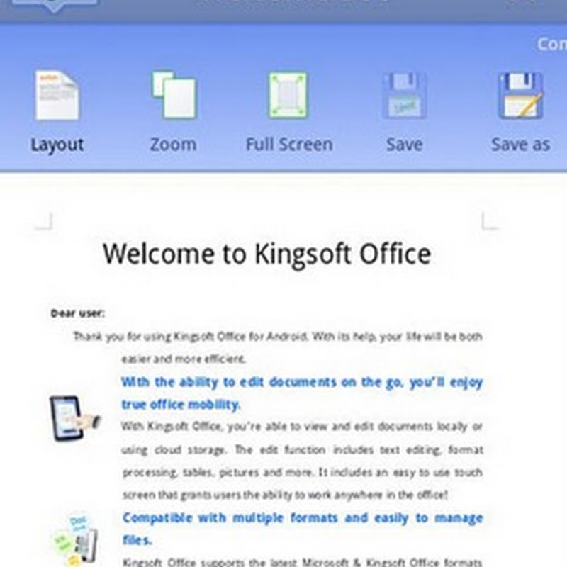 Kingsoft Office for Android is Now Free