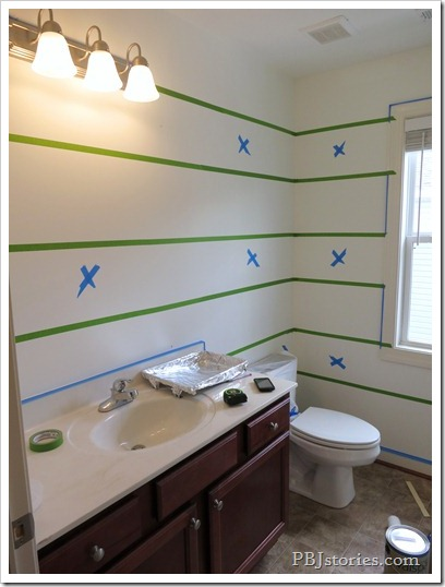 PBJstories stripes in bathroom