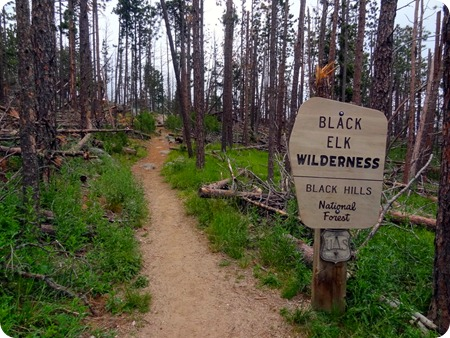 Black Elk Wilderness sign