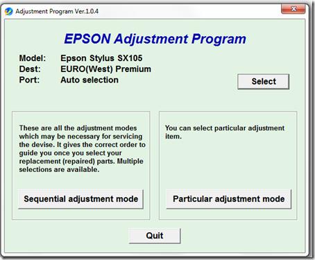 epson tx700w reset software free