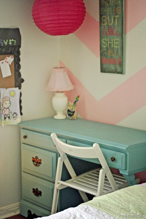 Little's Girl's Room Turquoise Desk