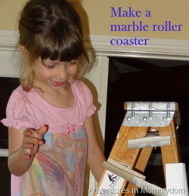 make a marble roller coaster