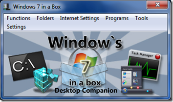 Control Windows 7 settings with Windows 7 in a box