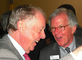 T. Boone Pickens and BAF founder Bill Calvert celebrate what Pickens said was a 30 year collaboration in NGVs: 'We saw the potential of what could be and what today is happening,' Pickens said.