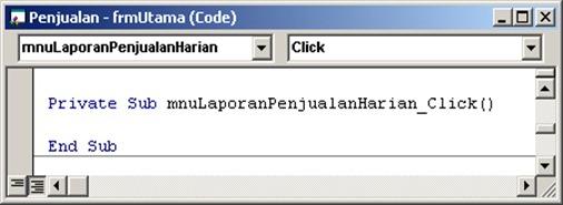 47 - Script Kosong Menu Laporan Harian