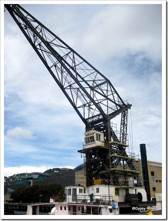 Floating Crane Hikitea. Steam operated and still used for special projects.
