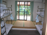 A room in the Miyanoura Portside Youth Hostel in Yakushima
