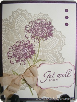 Get Well Soon Doily