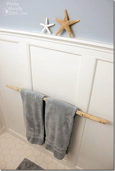 friday feature branch towel bar from pretty handy girl blog