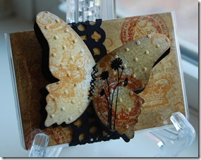 Collaged Butterfly Gift Card Holder Closed