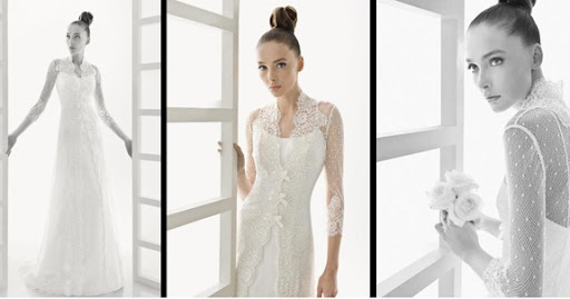 rosaclaraedurne 39Edurne 39 organza gown worn with long lace bridal coat