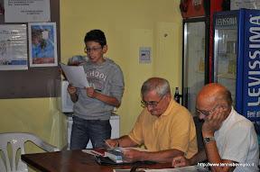 Luca Tanghetti declama una poesia del Canossi