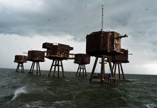 Os fortes marítimos Maunsell na Inglaterra