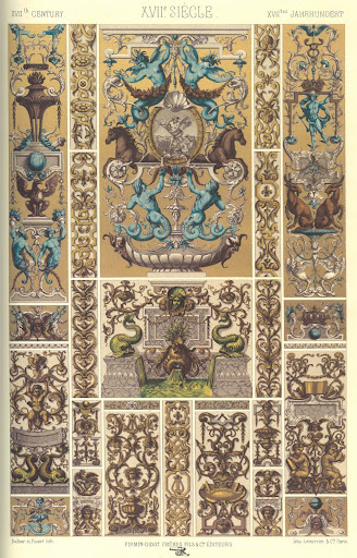 Decorative painting from 17th century France.