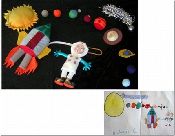 Brinquedos de pelúcia feitos a partir de desenhos de crianças (1)