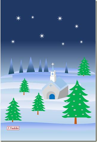 ・教会クリスマスカード