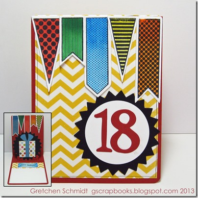 """18"" Happy Birthday Pop `n Cut Card by @gscrapbooks"