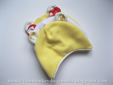 lined fleece baby hat 
