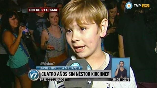 El niño kirchnerista que quiere ser presidente de Argentina en el 2050