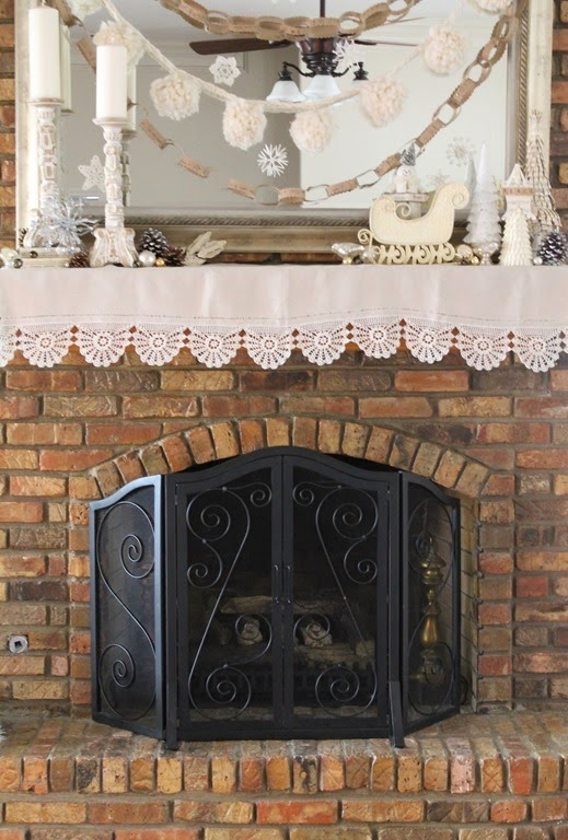 Decor To Adore~ Fireplace mantle 004