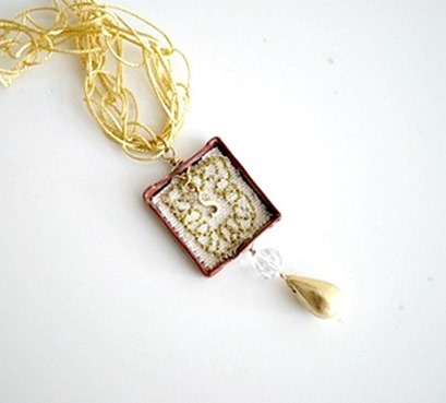 Vintage Inspired Shadowbox Necklace