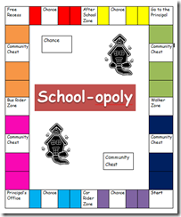School-opoly - let students make their own monopoly board Free