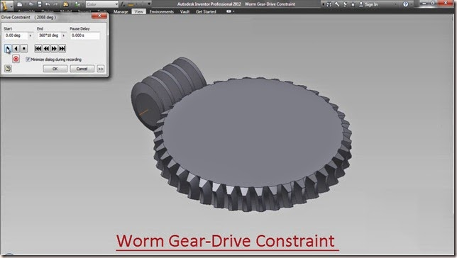 3d solid modelling videos worm gear drive constraint autodesk worm gear drive constraint ccuart Image collections