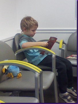 reading at doctors office