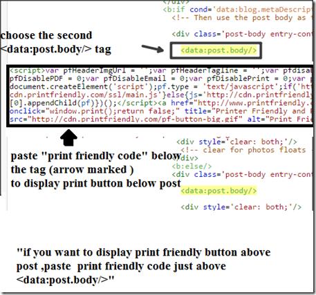 paste-print-friendly-code -blogger