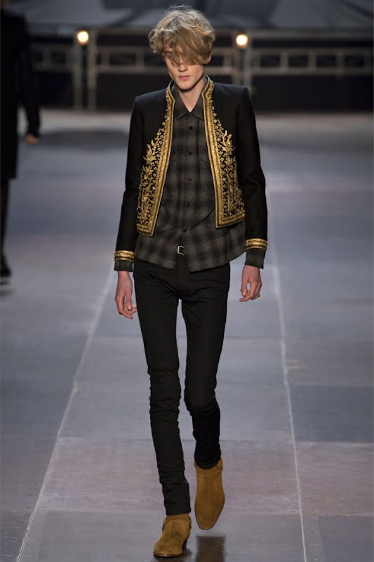 saint laurent gold jacket