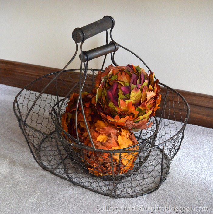leaf balls in a basket