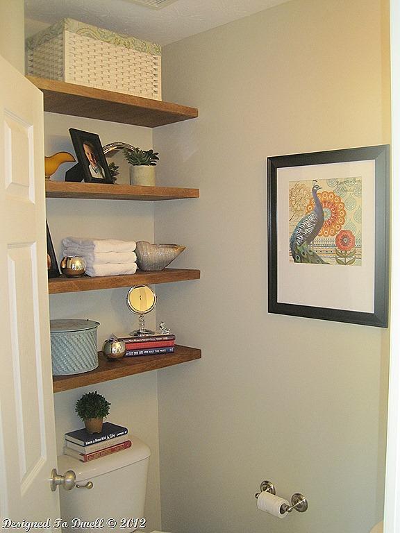 half bath shelves