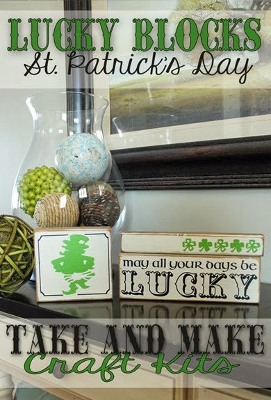 Super Saturday Seasonal Block Craft Ideas - St Patrick's Day
