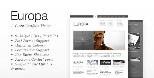 Europa: Clean Business & Portfolio Theme - Business Corporate