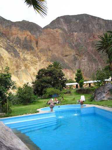 "The ""Oasis"" at the bottom of the Colca Canyon"